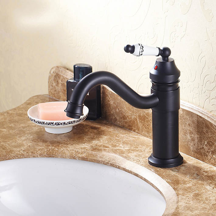 Antique Oil Rubbed Bronze (black ) Bathroom Sink Faucets  Basin Mixer water tap with ceramic handle YM-033EAntique Oil Rubbed Bronze (black ) Bathroom Sink Faucets  Basin Mixer water tap with ceramic handle YM-033E