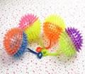Двойной цвет массажный шарик радуга флэш свет мяч подарочные игрушки для детей