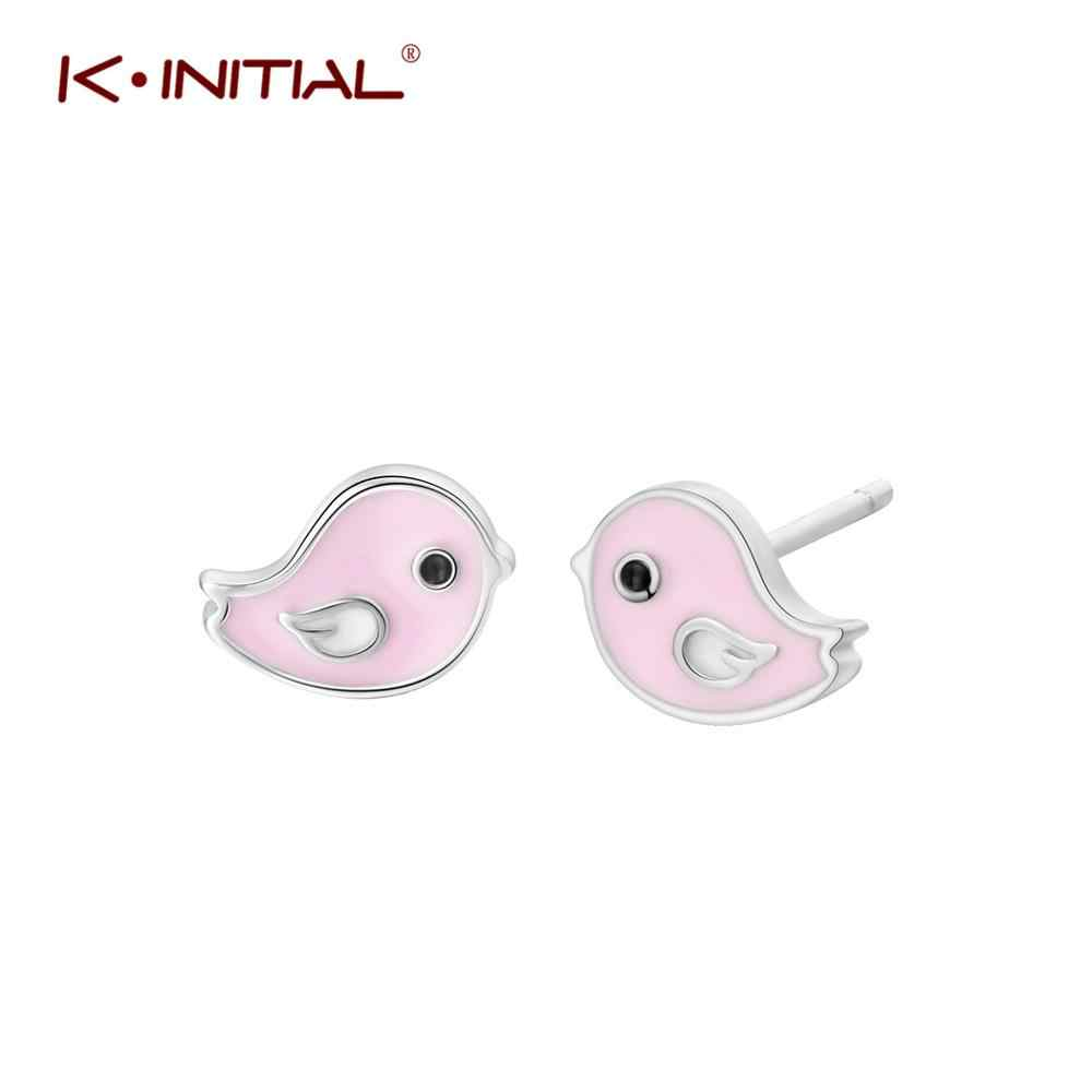 Kinitial Fashion Enamel Stud Earrings Cute Small Bee/Bird/Boy Girl Earrings Girls Stud Earrings for Women Christmas Day Gifts