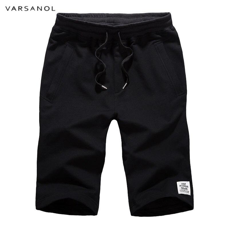 Varsanol Shorts Men 2018Summer Fashion Mens Shorts Casual Cotton Fitness Beach Shorts Male Short Trousers Knee Length M-4XL New