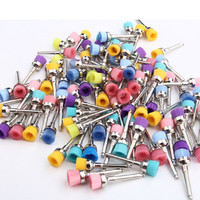 3bags 100Pcs Bag Dental Lab Materials Colorful Nylon Latch Flat Polishing Prophy Cup Polisher Brushes Dentist