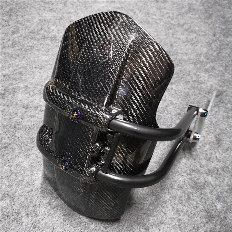 Pour SUZUKI GSXR 125 250 GSXS750 SV650 V-STROM 250 Integr accessoires moto 100% pare-boue arrière en Fiber de carbone