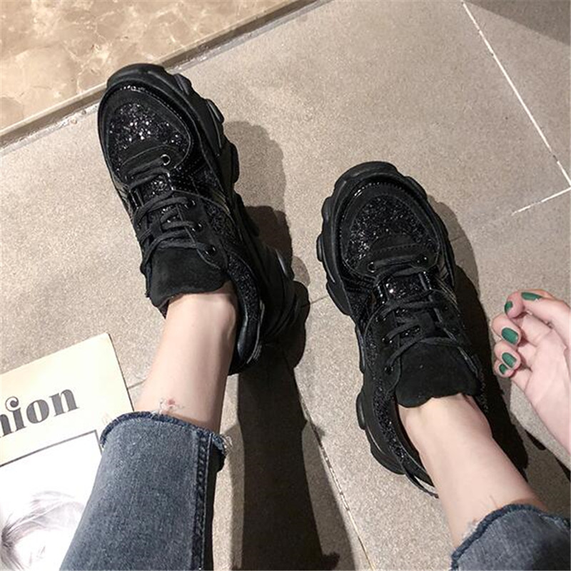 Womens Sneakers Glitter Trainers