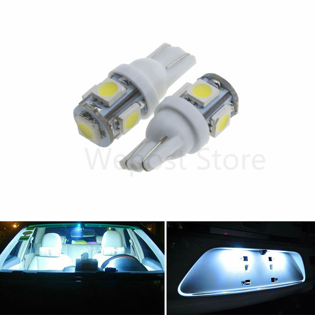 50 stks t10 wedge 5 smd 5050 xenon lampen super heldere auto led auto koplampen