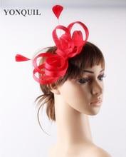 Charming sinamay feather hats fascinator headpiece