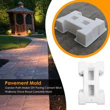 DIY Garden Path Maker Mold Paving Mold Home Courtyard Concrete Cement Brick Walkway Driveway Stone Road Mold Pavement Tool