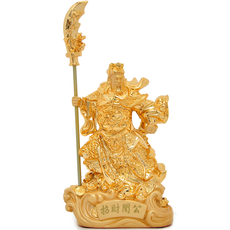 Statue of Guangong ornaments God of wealth Buddha lucky crafts TV stand accessories, free shipping