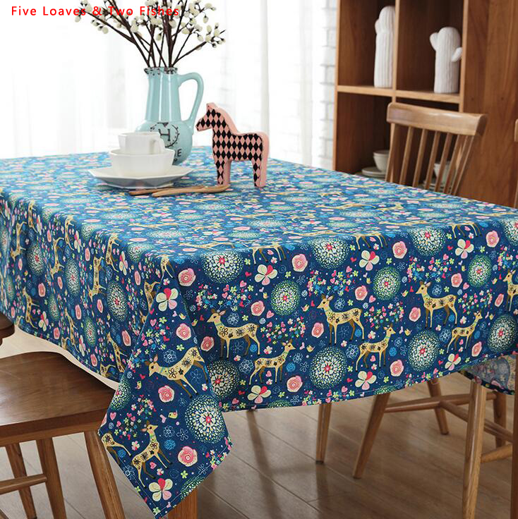 Order: 1 Piece. Free Shipping Christmas New Color Elk Square Tablecloths  Cotton Linen Tablecloth Rectangular Table Cloth Solid Color