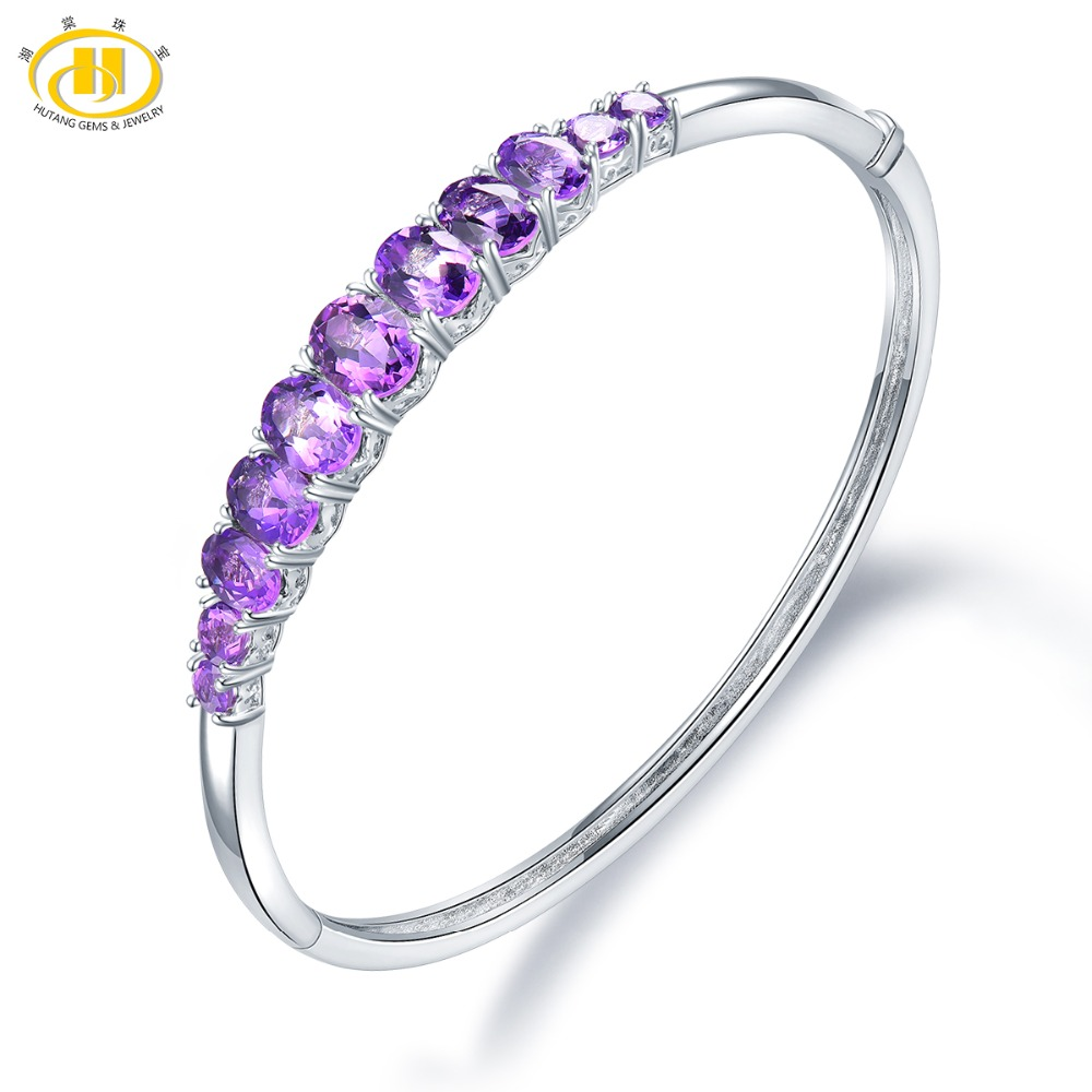 Hutang Garnet Pendant Solid 925 Sterling Silver Natural Gemstone Necklace Fine Fashion Stone Jewelry For Womens Girls Gift New