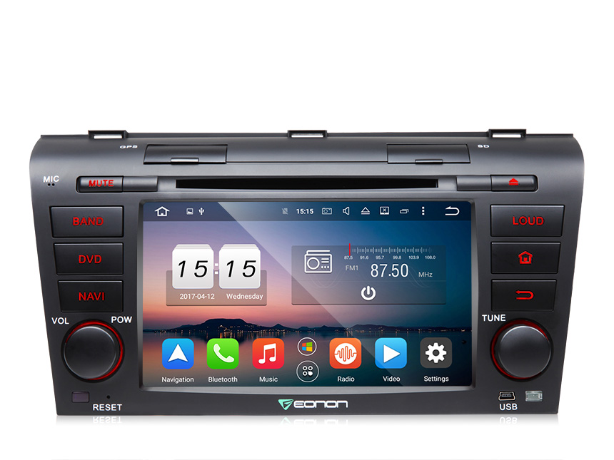 Eonon Android 6.0 2 GB 8 Core Octa-core Auto DVD Player Stereo GPS Navigation Head Unit WIFI 3G USB für <font><b>Mazda</b></font> 3 2004-2009 image