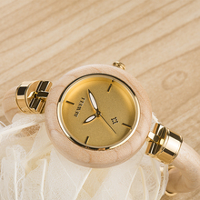 BEWELL ZS-W151A Wood Wristwatch Quartz Ladies Watch Women Watches Casual Wristwatch