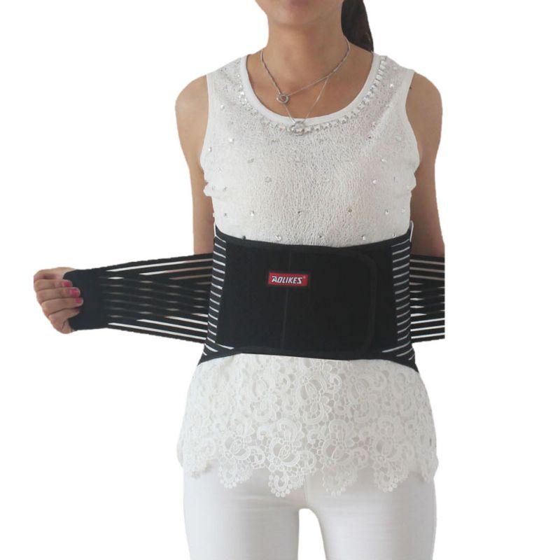 Prix pour Soins de santé Avec Acier Taille Back Support Brace Ceintures En Acier Musculation Soutien Lombaire Haute Élastique Respirant Maille