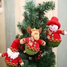 3 styles christmas tree ornament christmas fabric cute fun santa claus snowman elk doll pendant - Christmas Tree Prices