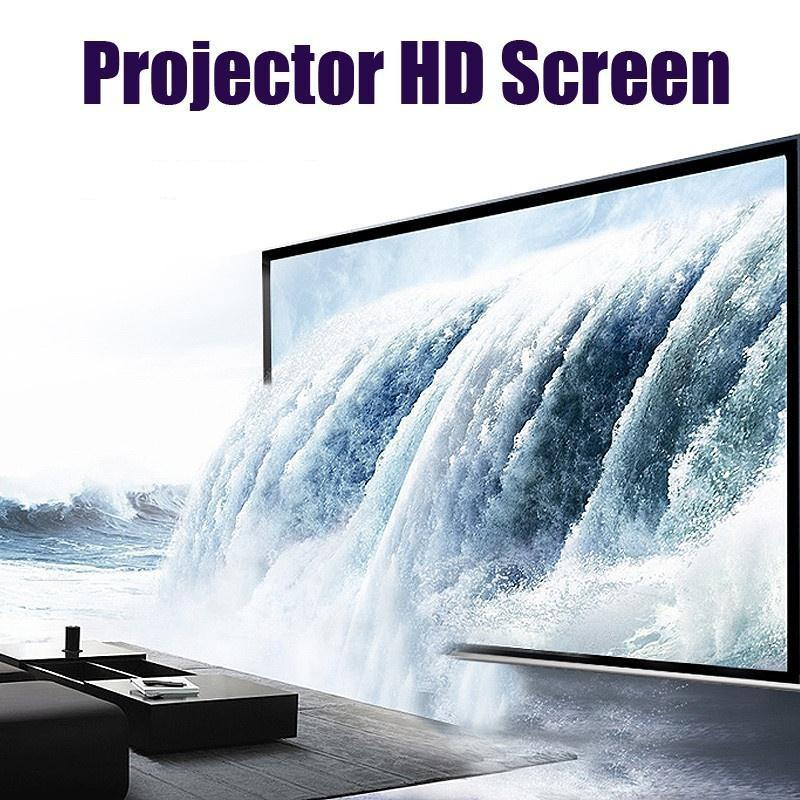 Amzdeal Portable Foldable 4:3 HD Display 60Inchs Projector Screen Fiber Canvas Curtain Home Cinema Outdoor Courtyards