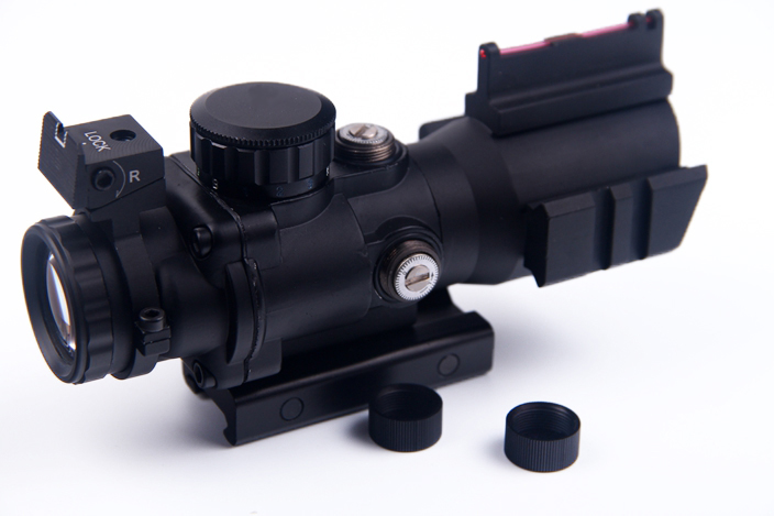 4X32 Rifle Hunting Scope illuminated Red/Green/Blue reticle dot sight (SP-4X) 6-0055 4x 30mm red green mil dot reticle rifle scope with gun mount black 3 x ag13 1 x cr2032