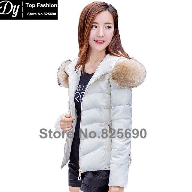 FurHooded Padded Autumn Winter Jackets For Women Fashion Short Down Parka  Women's Winter Jacket Coat  Female Water Proof Jacket