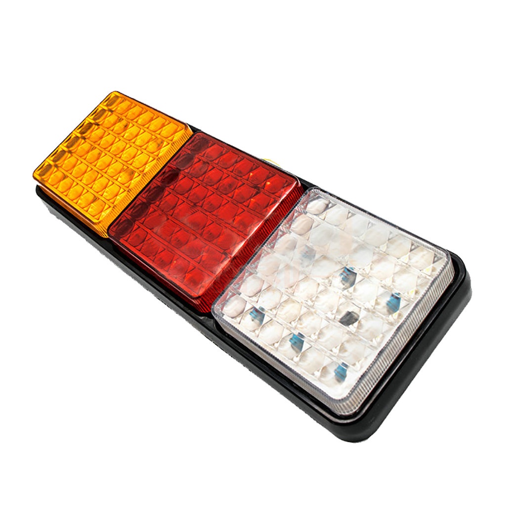 Image 3 - Rectangular Tail Light 2X 24V 108 LED Tail Light Truck Trailer Rear Indicator Stop Reverse Signal Lamp For Campers Buses Vans-in Signal Lamp from Automobiles & Motorcycles