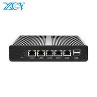 XCY pfSense Mini PC Intel Celeron J1900 J1800 4x 1000Mbps Intel Ethernet ports Firewall Appliance Router Fanless Barebone Minipc