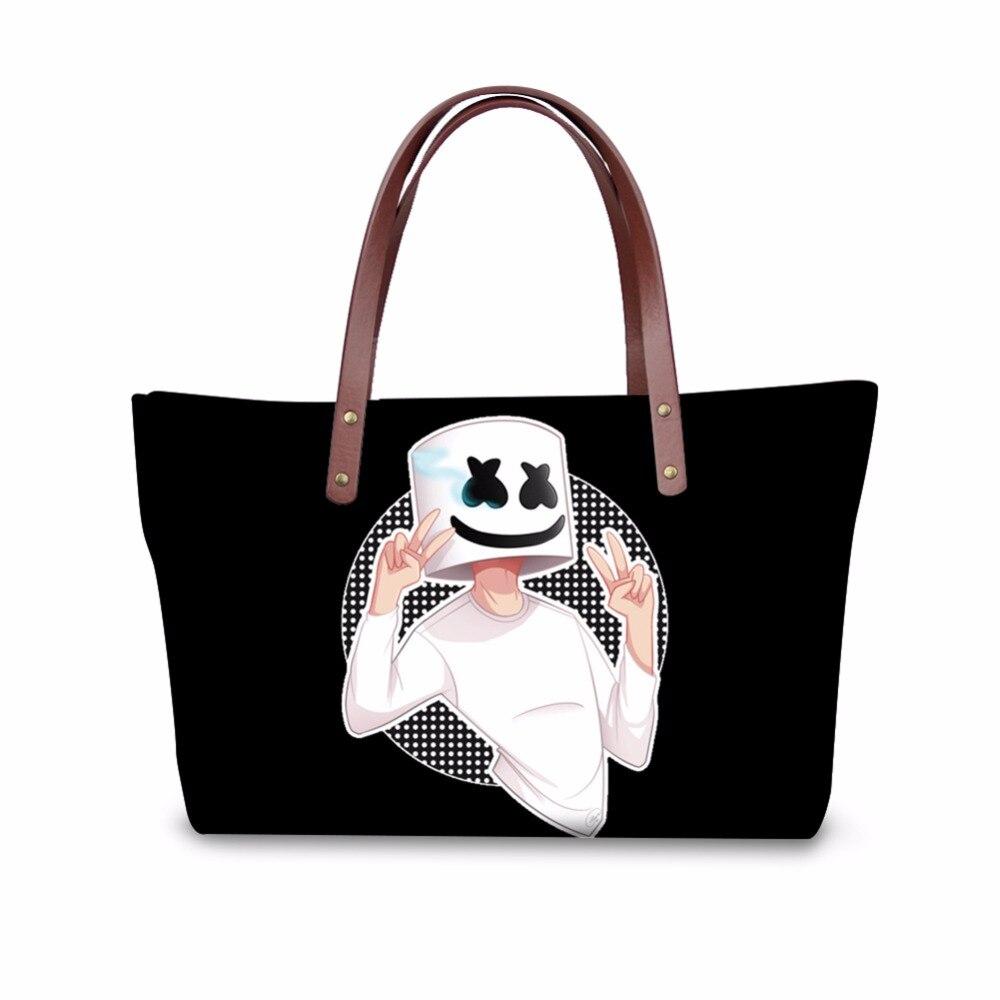 Sac à main femme personnalisé sac en polyuréthane pour femme grande capacité sac fourre-tout grandes dames sacs à bandoulière Marshmello Shopper Bolsas Feminina