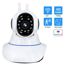 Камара IP Wi Fi 720/1080 P HD 2MP ИК ONVIF сигнализации выход беспроводной камера дома видеорегистратор с режимом ночной съемки видеонаблюдения smart ipcam