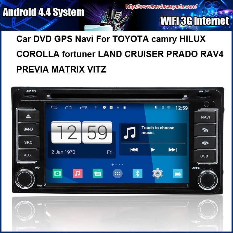 Android 4.4.4 Car DVD GPS for TOYOTA Camry COROLLA LAND CRUISER PRADO RAV4