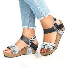 8be764d2ed14 YOUYEDIAN mujer serpiente sandalias de Punta abierta sandalias de cuña  zapatos de plataforma de cuero sandalias romanas sandale .