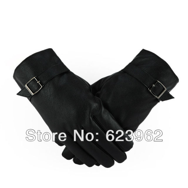 Quality sheep skin men's warm winter gloves Christmas gifts ML XL