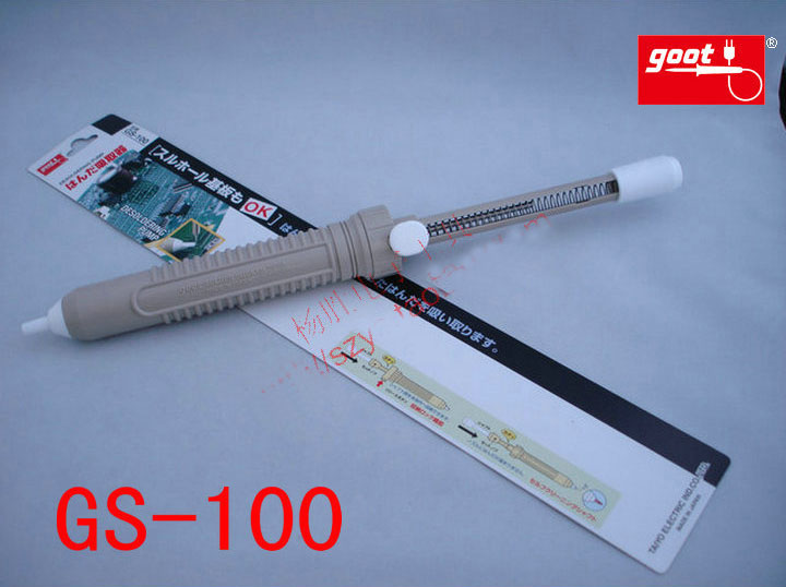 Japan GOOT Repair Tools Suction Model GS-100 Solder Removal Tool Big Powerful Solder Sucker Desoldering Pump