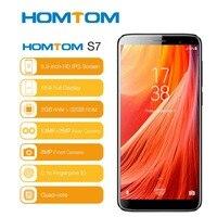 HOMTOM S7 смартфон соотношением сторон 18:9 3 gb + 32g Mtk6737 Ouad Core 5,5 отпечатков пальцев 2900 mah Dual сзади Камера 13mp + 8mp мобильного телефона