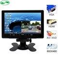 Nueva 7 Pulgadas 800x480 TFT Color LCD de Coches Aparcamiento Monitor de Vídeo con Entrada HDMI VGA AV Monitor de Seguridad CCTV + Control Remoto