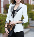 2016 Spring New Authentic Korean The Candy Color Blazer Women Slim Shrug Female Suit Jacket Blaser Feminino G129