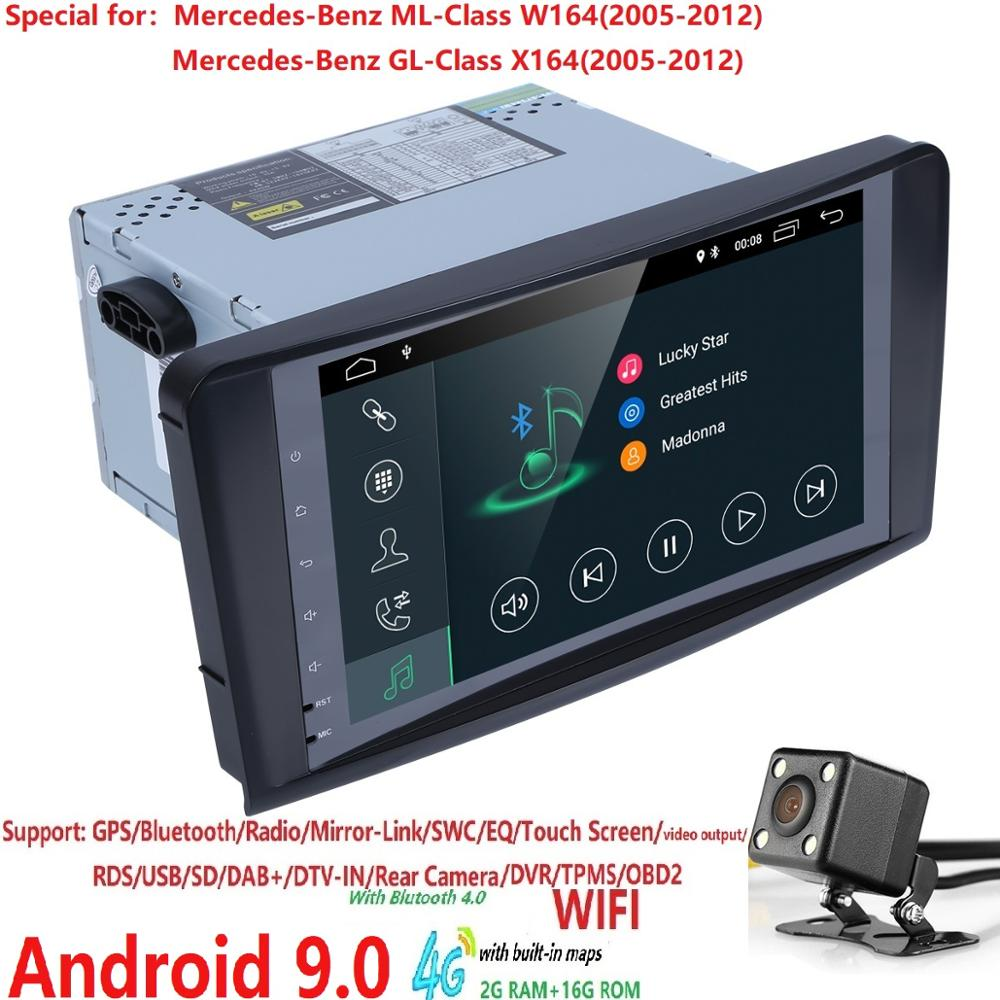 Ossuret 2+16 Android 9.0 CAR Auto Audio Player GPS FOR BENZ <font><b>ML</b></font> 320/<font><b>ML</b></font> <font><b>350</b></font>/<font><b>W164</b></font>(2005-2012) Stereo navigation Radio 4G WiFi SWC image