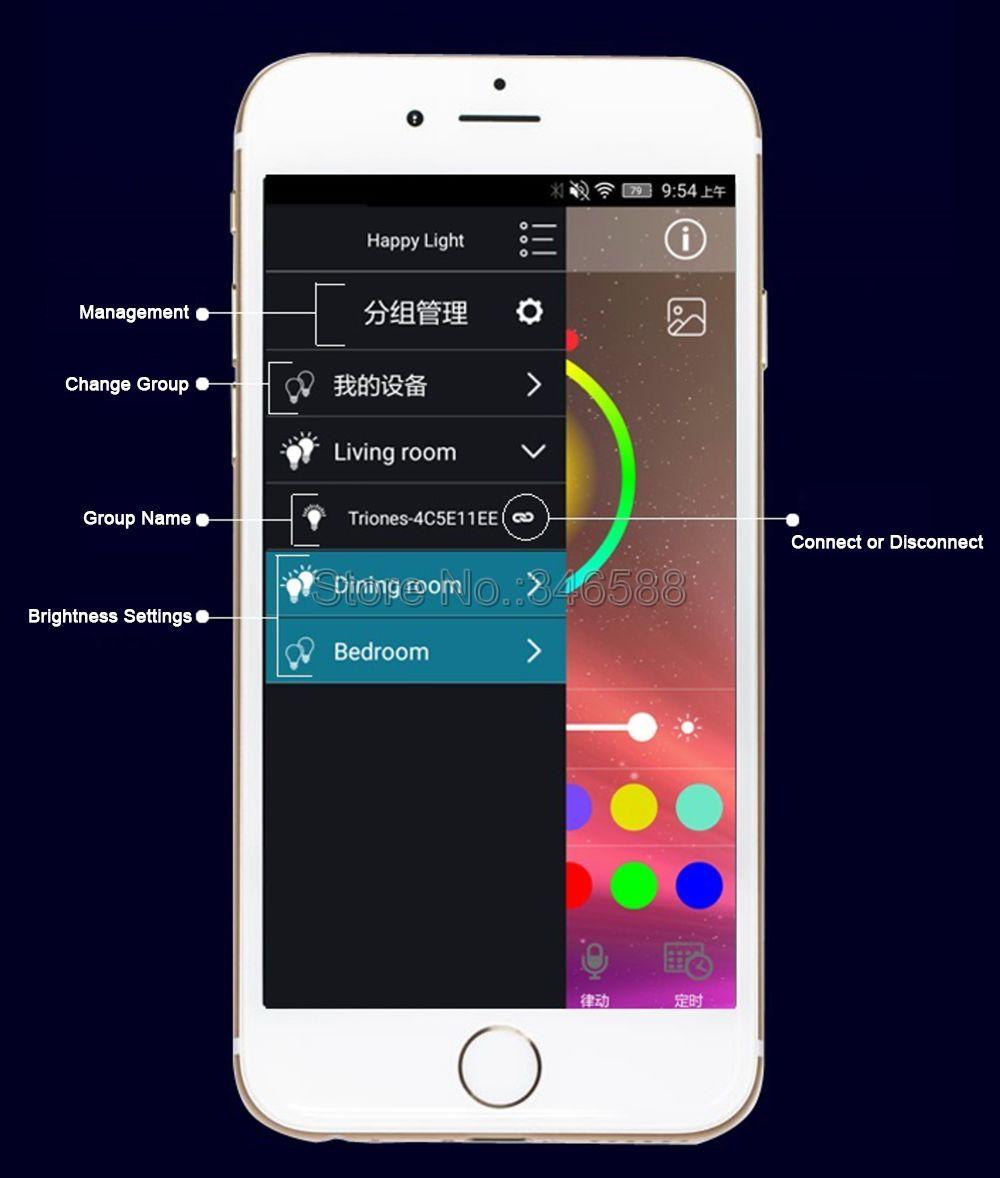 Happy Lighting Dc5v 24v Bluetooth V4 0 Rgbw Rgb Led Light Strip Controller Smartphone Remote Control On Ios Android App Rgb Controlers Aliexpress