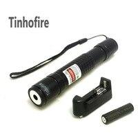 Tinhofire גבוה כוח לייזר מצביע בדקו לייזר 300 mW מצביע לייזר ירוק עט + 1x18650 4000 mah סוללה + 1x מטען