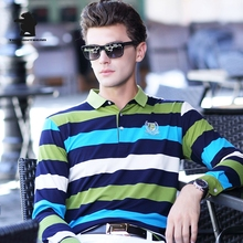 Autumn New men's Long Sleeve Polo Shirts Fashion Striped High Quality Casual Business Polo Shirts For Men Pull Homme CB17D8801