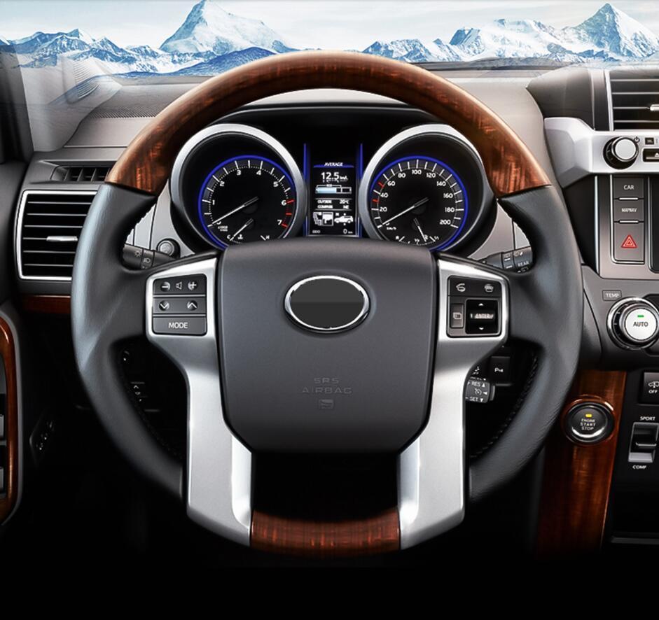 Для Toyota Land Cruiser Prado 150 LC150 FJ150 2010-2017 Interno дель Volante Copertura отделкой хром стайлинга автомобилей Accessori ...