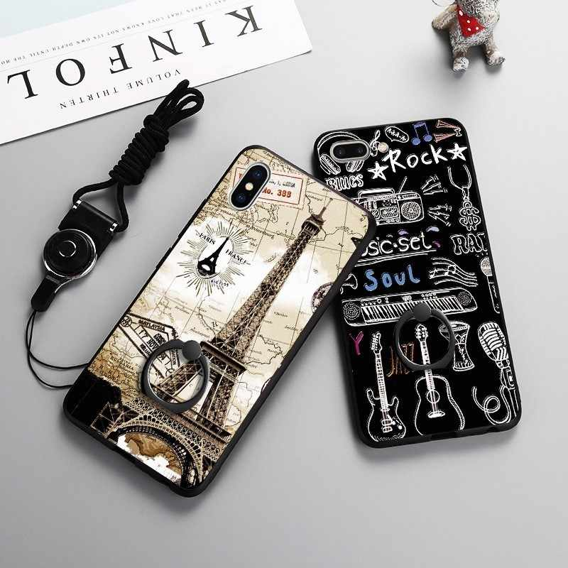 Urban Paris Eiffel Tower Case For Iphone X 7 8 6 6S Plus 3D Painted TPU Shell Case For Iphone 8 Xr Xs Max With Finger Ring Cover