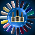 Long Lasting Glitter UV Nail Gel Soak Off LED Gel Nail Polish Gold/ Blue/ Yellow/ Pink/ Red/ Green/ Gray/ Silver Color Coat
