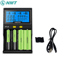 Smart Universal Quad Battery Charger With AC86 265V Charger Cable For Li Ion IMR INR ICR