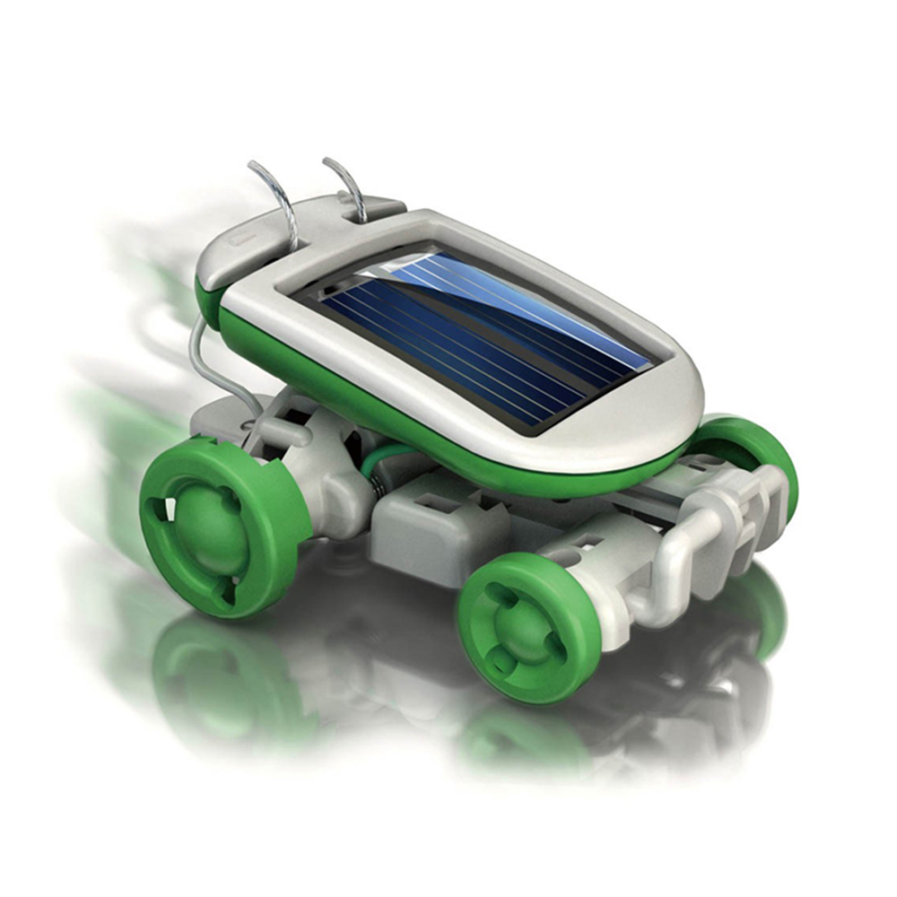 Hot 6 In 1 Power Solar Transformation Robot DIY Toy Solar ...