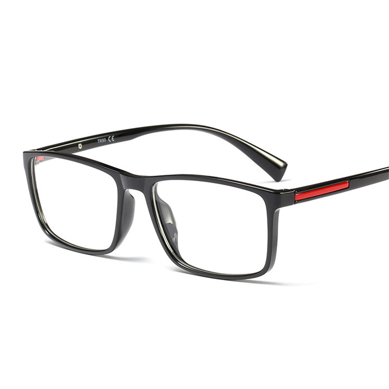 fd32f4055d9 Detail Feedback Questions about Cubojue Men s Prescription Glasses TR90 Man  Optical Red Strip Black Spectacles Progressive Photochromic Multifocal Anti  Blue ...