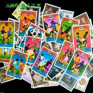 Image 3 - Corea del nord 250 pz/lotto Tutti Diversi Nessuna Ripetizione Centrale e Grande Formato Francobollo Con Timbro Postale estampillas de correo