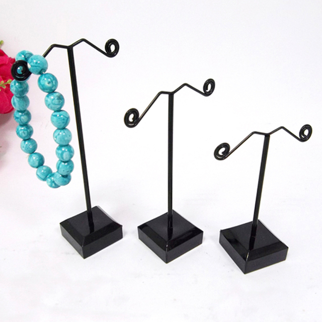 New Arrival Jewelry Box And Packaging For Fashion Earrings Display Stand Rack Black Acrylic Base Jewellery