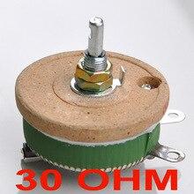 (10 шт./лот) 50 Вт 30 Ом высокомощный проволочный потенциометр, реостат, переменный резистор, 50 Вт.