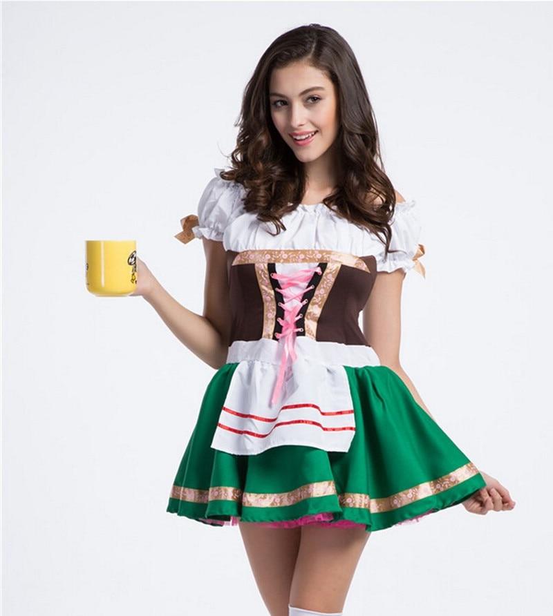 Sexy Girls Green German Beer Costume Oktoberfest
