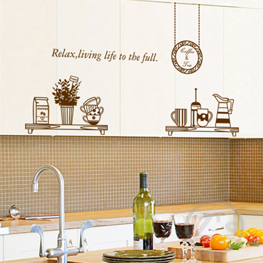 Kitchen Wall Decals Removable Wall Sticker Home Decoration Diy Adhesives  Art Mural Posters Vinyl Wallpaper AY6036