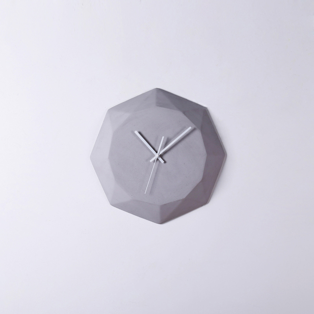 2016 New Design Simple Stylish Wall Clock for Living Room Grey Bottom Hour Hand and Minute Hand in White for Room Home Decor