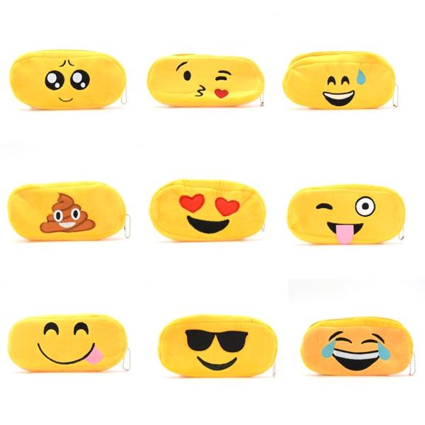 Pencil Case Plush Trousse Scolaire Stylo Kawaii Emoji Astuccio Porta Penne School Pencilcase Cute Lapiceras Estuche Escolares