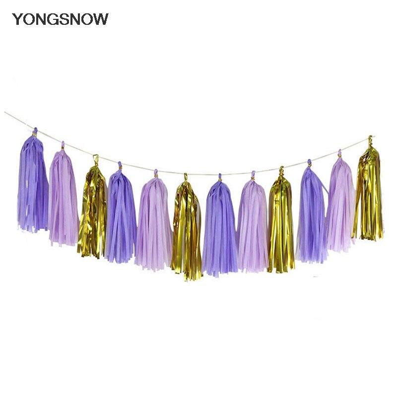 3 Bags(15pcs) 12*35cm Tissue Paper Tassel Garland Diy Handmade Craft Wedding Decoration Baby Shower Birthday Party Supplies