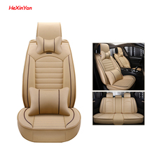 цена на HeXinYan Leather Universal Car Seat Covers for Land Rover all models Freelander Rover Range Evoque Sport Discovery auto styling